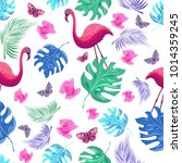 colorful seamless pattern with... | Shutterstock .eps vector #1014359245
