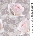 seamless pattern. decorative... | Shutterstock . vector #1014364429