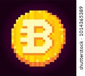 bytecoin. cryptocurrency. pixel ... | Shutterstock .eps vector #1014365389