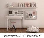 romantic interior shabby chic   Shutterstock . vector #1014365425