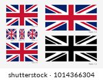union jack. flag of united... | Shutterstock .eps vector #1014366304