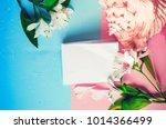 empty template. invitation.... | Shutterstock . vector #1014366499