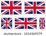union jack. flag of united... | Shutterstock .eps vector #1014369379