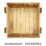 Top View Of Old Wooden Box...