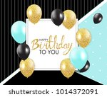 abstract happy birthday... | Shutterstock . vector #1014372091