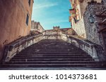 dubrovnik  a croatian city on... | Shutterstock . vector #1014373681