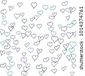 hand drawn hearts. background.  ... | Shutterstock .eps vector #1014374761