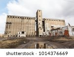 the ruins of an old abandoned... | Shutterstock . vector #1014376669