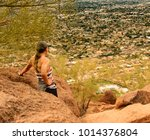 arizona hiking and outdoors  ... | Shutterstock . vector #1014376804