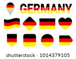 germany flag vector set.... | Shutterstock .eps vector #1014379105