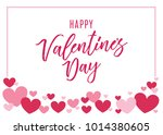 valentine's day heart vector... | Shutterstock .eps vector #1014380605