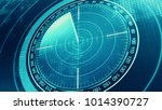 sonar screen for submarines and ... | Shutterstock . vector #1014390727