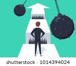 business challenge concept with ... | Shutterstock .eps vector #1014394024