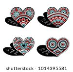 lace decorative hearts.... | Shutterstock .eps vector #1014395581