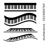 set of piano keyboards  stock... | Shutterstock .eps vector #1014404764