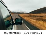 road trip. mountain snow view.... | Shutterstock . vector #1014404821