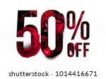 50  off discount promotion sale ... | Shutterstock . vector #1014416671