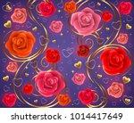 illustration of valentines day... | Shutterstock .eps vector #1014417649