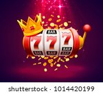 king slots 777 banner casino on ... | Shutterstock .eps vector #1014420199