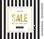 sale sign design for banner or...   Shutterstock .eps vector #1014425635