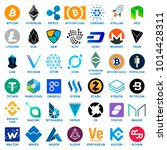 cryptocurrency logo set. | Shutterstock .eps vector #1014428311
