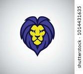 blue lion logo vector   Shutterstock .eps vector #1014431635