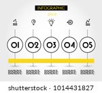 yellow info template with five...   Shutterstock .eps vector #1014431827