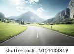 mountain road  jungfrau region  ... | Shutterstock . vector #1014433819