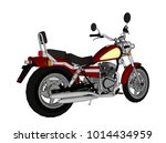 small red classic chopper look. ... | Shutterstock .eps vector #1014434959