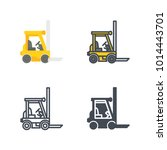forklift service icon | Shutterstock .eps vector #1014443701