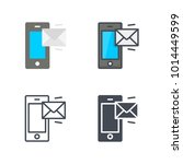 phone message service icon | Shutterstock .eps vector #1014449599