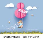 card for 8 march women's day.... | Shutterstock .eps vector #1014449845