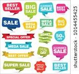 modern origami sale stickers... | Shutterstock .eps vector #1014455425