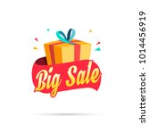 big sale shopping gift box | Shutterstock .eps vector #1014456919