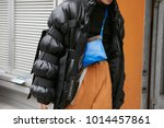milan   january 15  man with...   Shutterstock . vector #1014457861