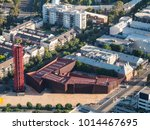 Small photo of Melbourne, Australia - January 16, 2018: aerial view of the Australian Centre for Contemporary Art and the Malthouse Threatre in South Melbourne. ACCA and the Malhouse are part of a cultural hub.