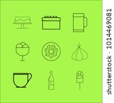 food and drink linear icon set. ... | Shutterstock .eps vector #1014469081