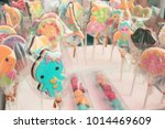 sweet candy molded dolls. | Shutterstock . vector #1014469609