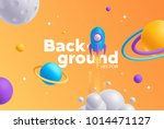 vector background with bright... | Shutterstock .eps vector #1014471127
