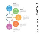 circle infographic template... | Shutterstock .eps vector #1014472417