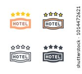 hotel 4 star sign vector icon | Shutterstock .eps vector #1014472621