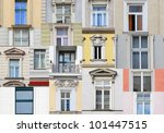 Windows from Vienna, Austria - stock photo