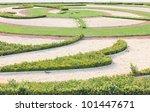 Garden in Belvedere castle - Vienna - stock photo