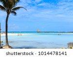 isla mujeres north beach  mexico | Shutterstock . vector #1014478141