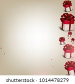 elegant background with gift... | Shutterstock .eps vector #1014478279