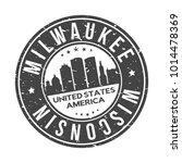 milwaukee wisconsin usa stamp...   Shutterstock .eps vector #1014478369