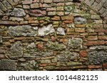 stone wall of old european city ... | Shutterstock . vector #1014482125