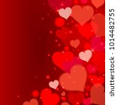 love background with red hearts ... | Shutterstock .eps vector #1014482755