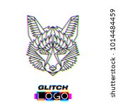 glitch effect fox logo. vector... | Shutterstock .eps vector #1014484459
