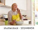 Happy Senior Woman At Home ...